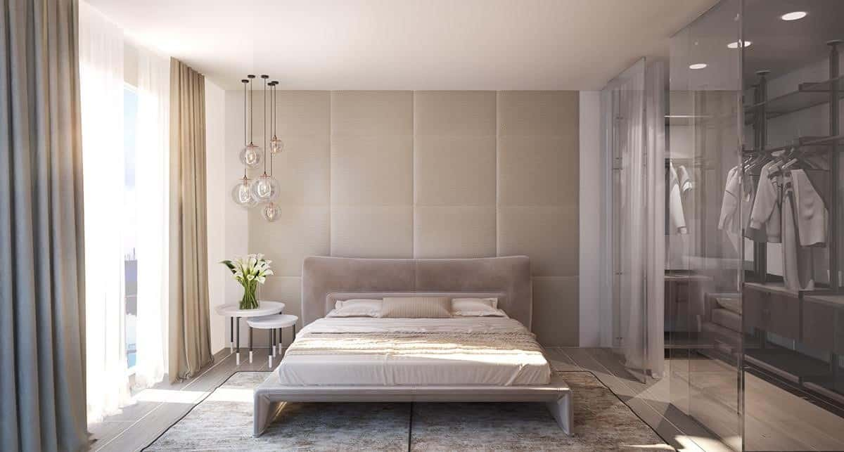 An Upholstered Bedroom Wall