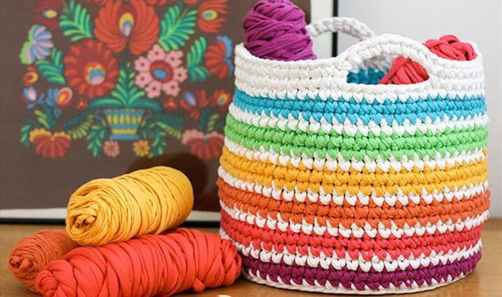 Crotchet Basket for Yarn Storage