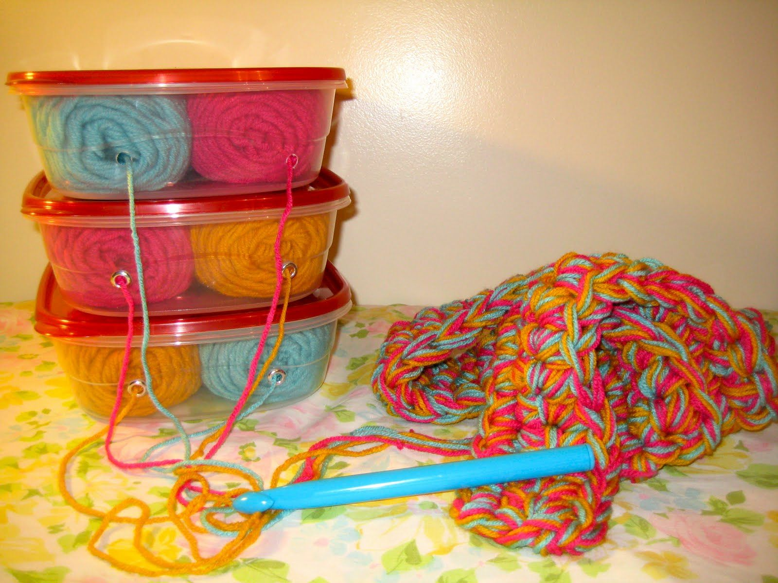 Magazine Holder yarn storage