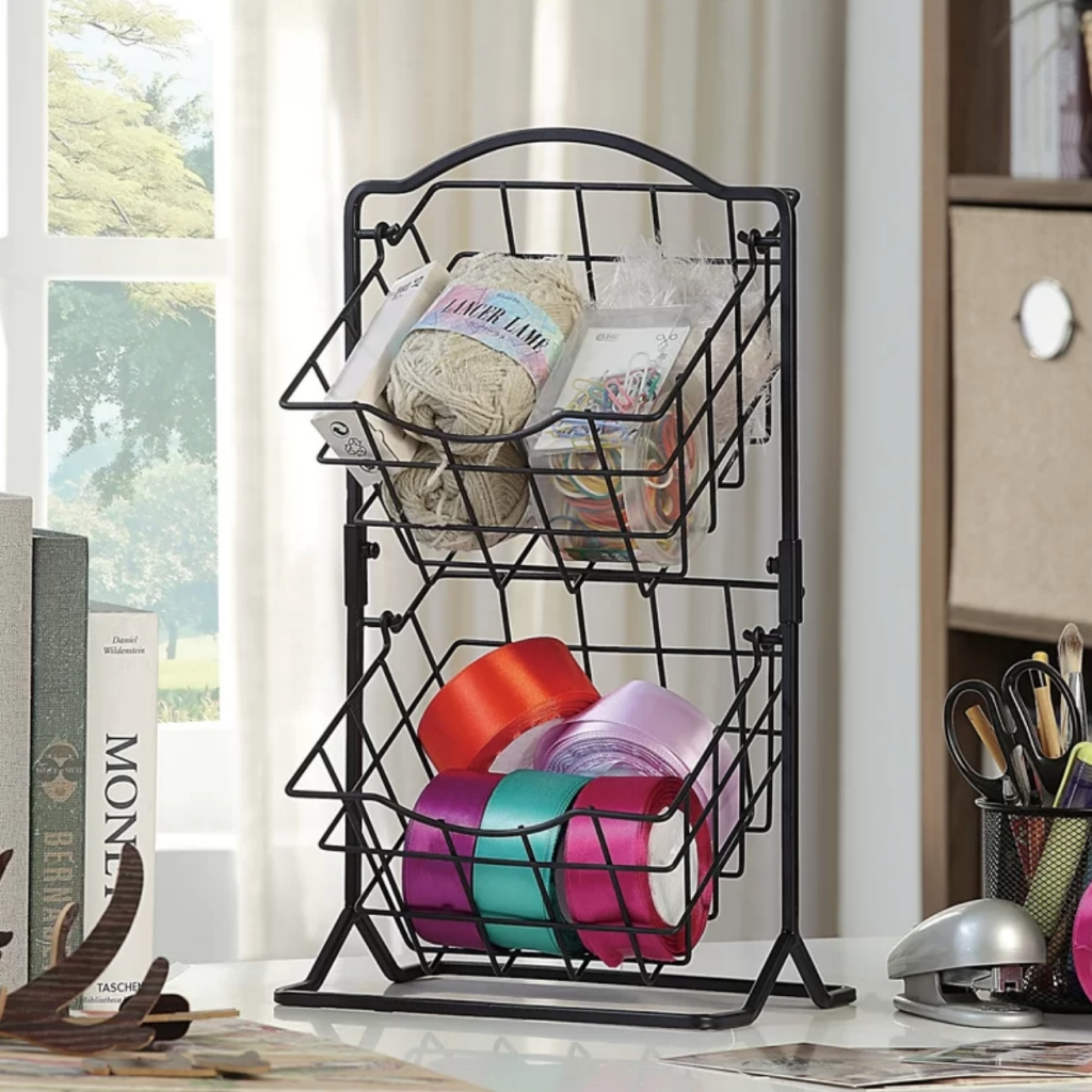 Metal Wire Bin Yarn Racks
