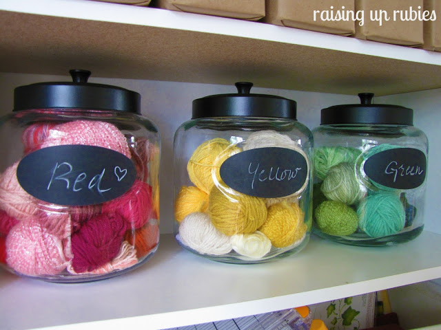 Stacked Coffee Yarn Storage