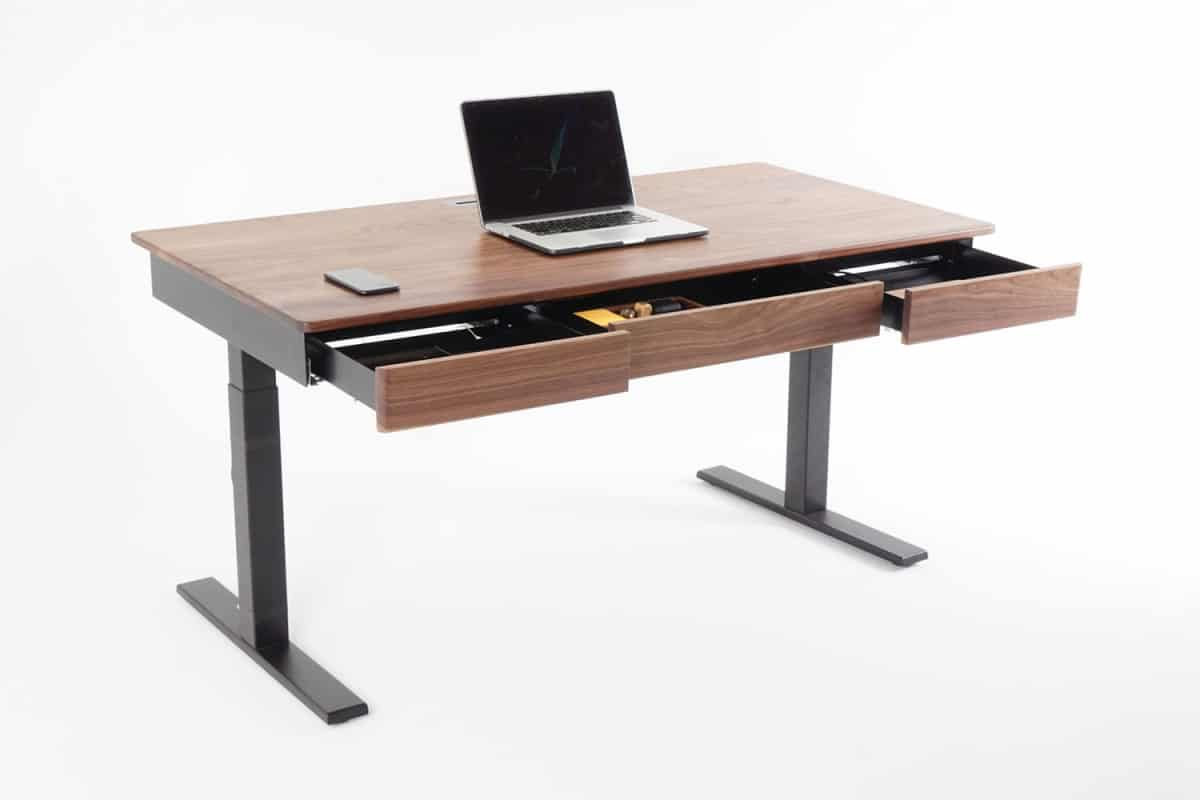 Adjustable Standing Desk with Drawers