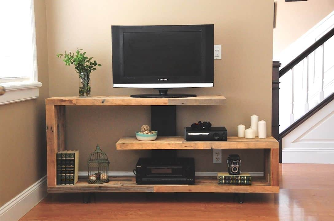 DIY TV Stand With Cabinets