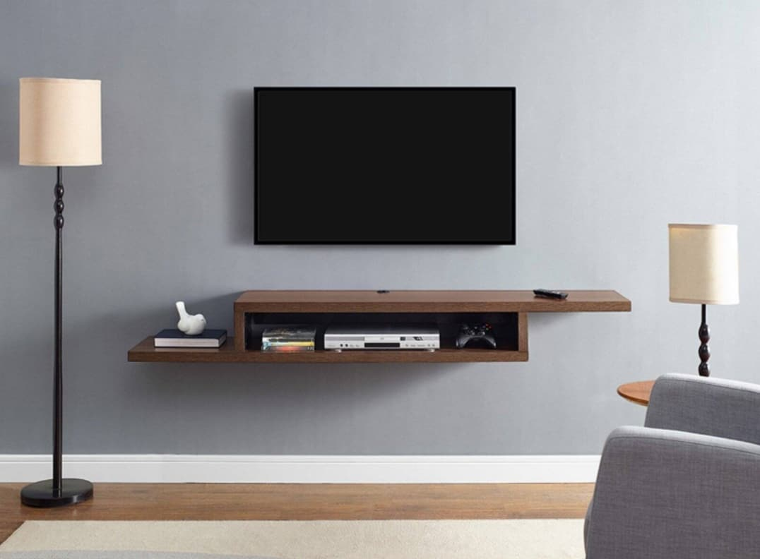 Wall Mounted TV Stand Idea