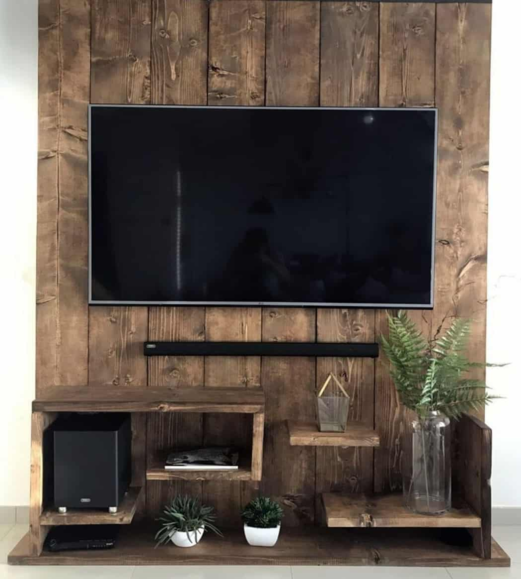 Wooden Wall TV Stand DIY