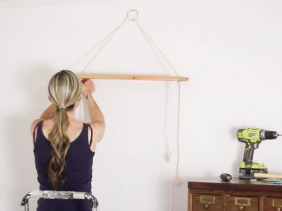 assembling rope shelf